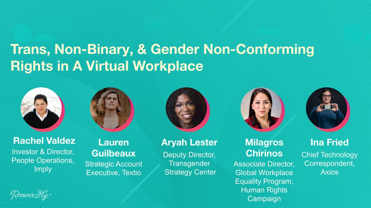 Trans, Non-Binary, & Gender Non-Conforming Rights in A Virtual Workplace