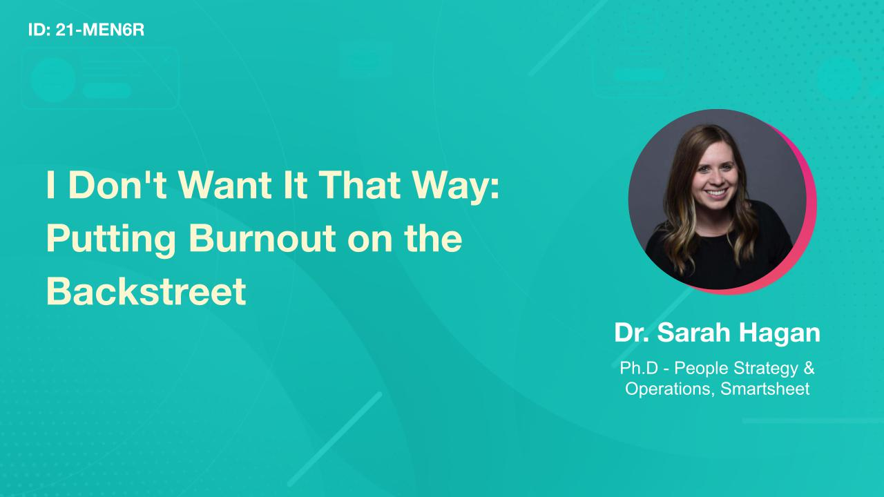 I Don't Want It That Way: Putting Burnout on the Backstreet