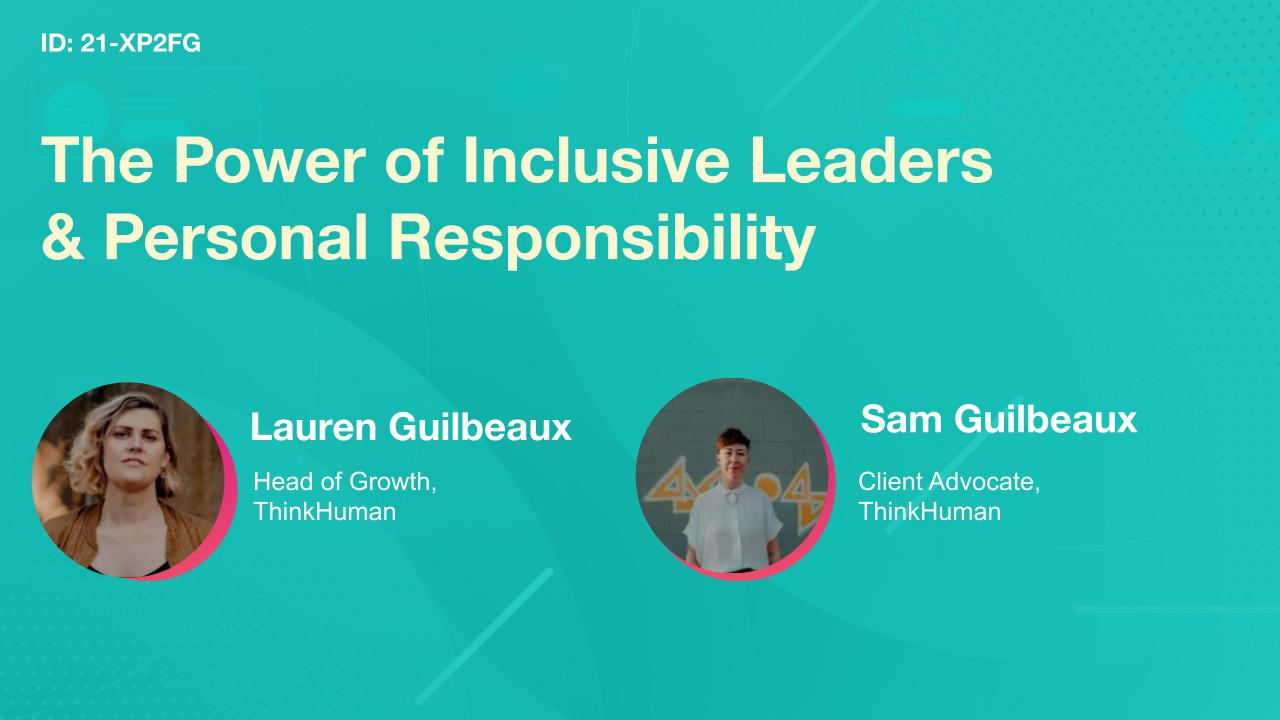 The Power of Inclusive Leaders & Personal Responsibility