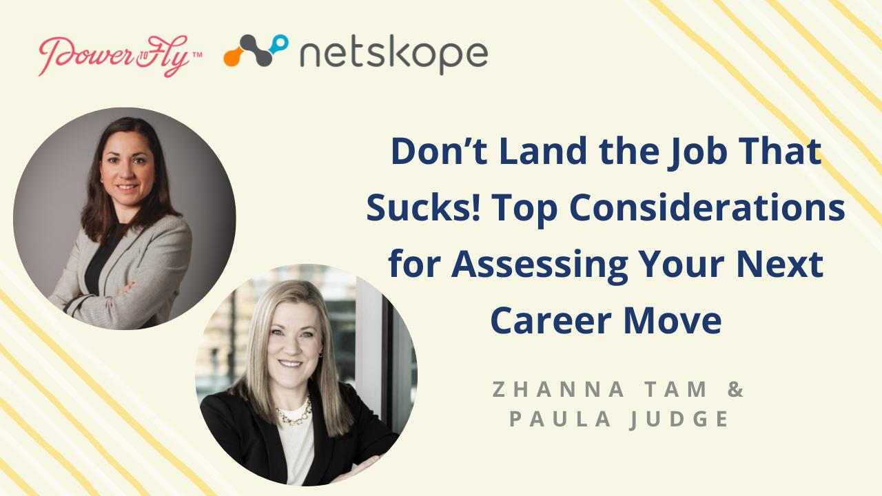 Don't Land the Job That Sucks! Top Considerations for Assessing Your Next Career Move