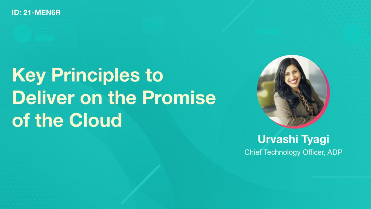 Key Principles to Deliver on the Promise of the Cloud