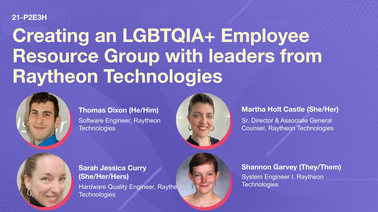Creating an LGBTQIA+ Employee Resource Group with leaders from Raytheon Technologies