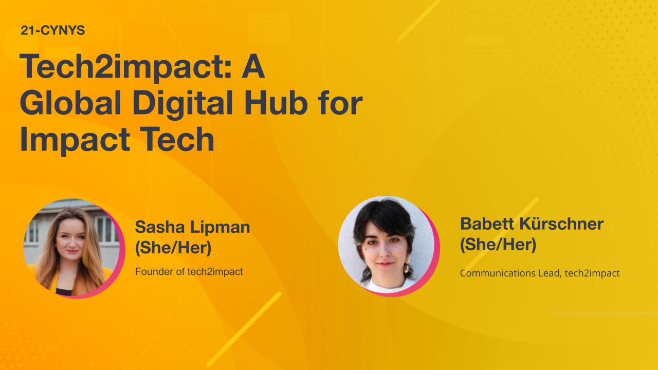 Tech2impact: A Global Digital Hub for Impact Tech