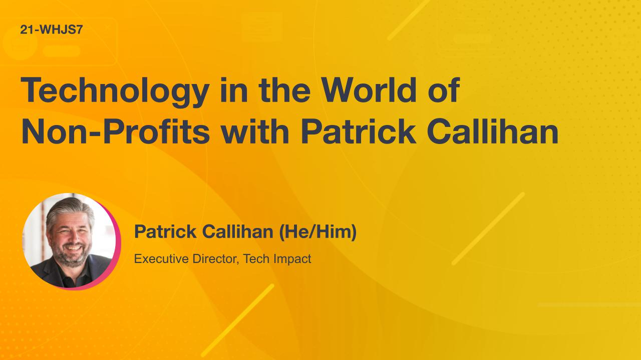 Technology in the World of Non-Profits with Patrick Callihan