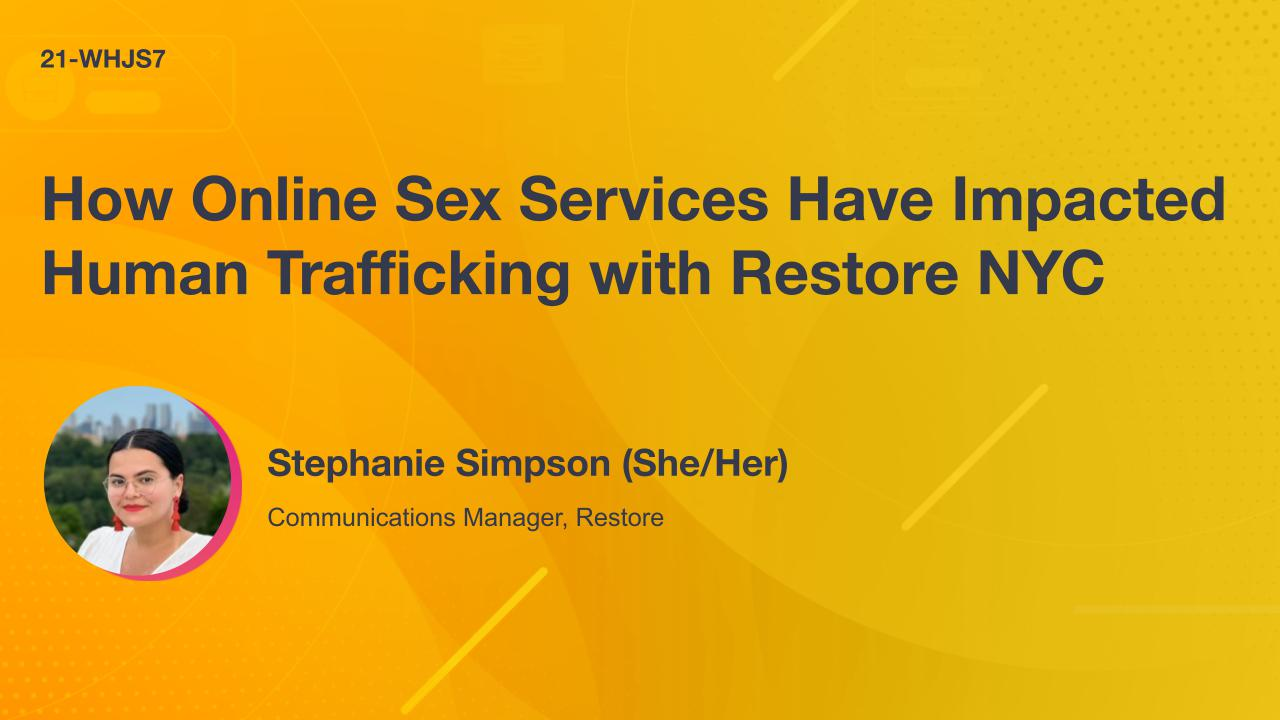 How Online Sex Services Have Impacted Human Trafficking with Restore NYC