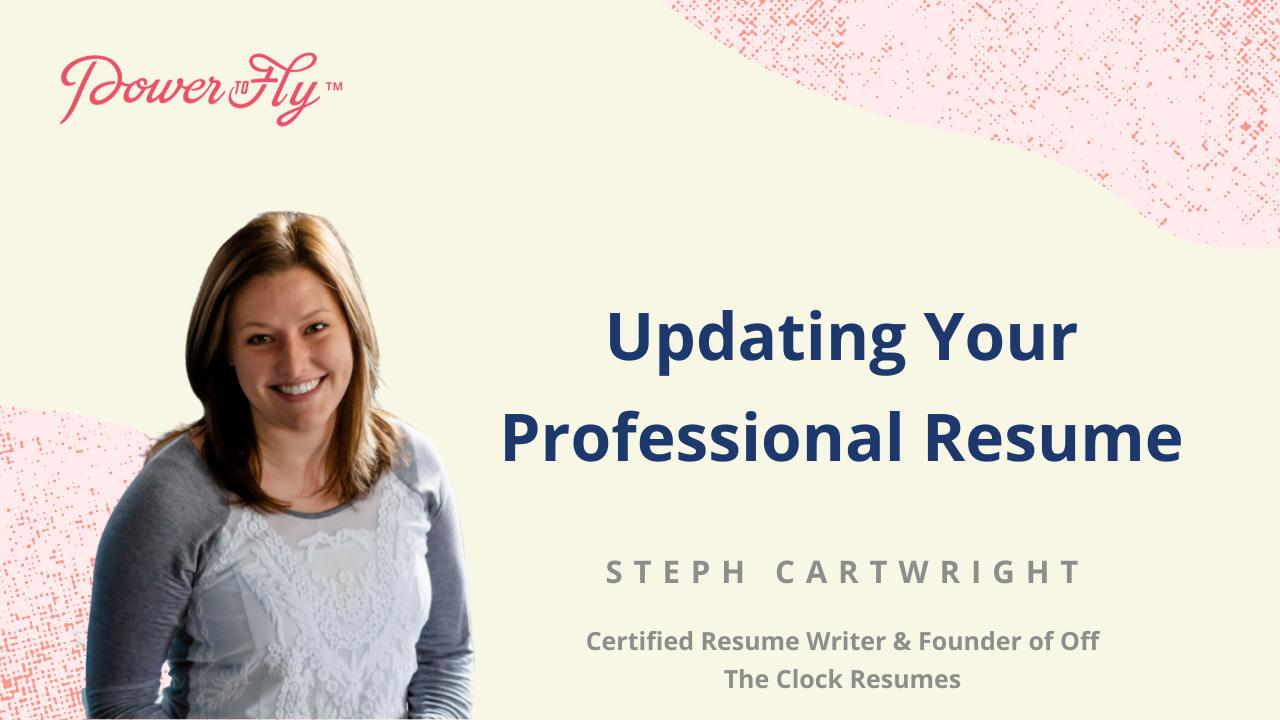 Updating Your Professional Resume