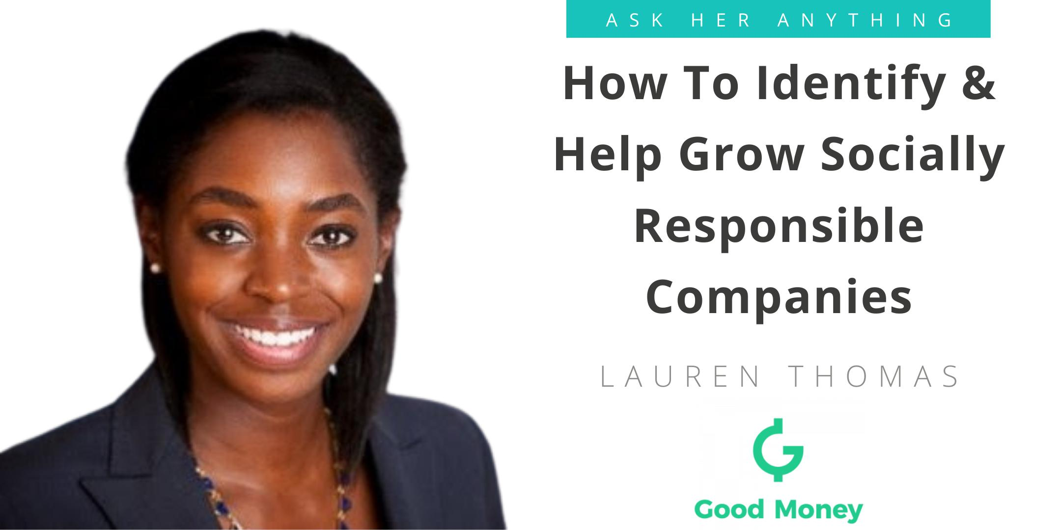 How To Identify & Help Grow Socially Responsible Companies