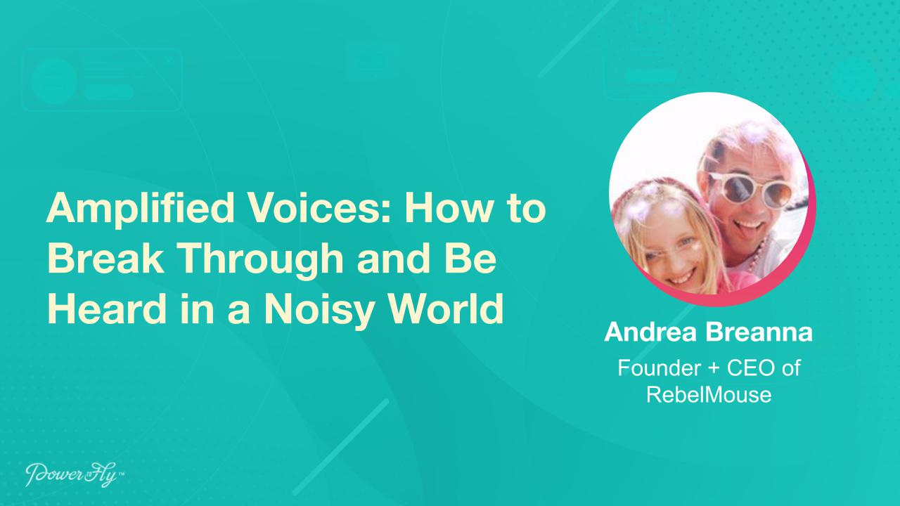 Amplified Voices: How to Break Through and Be Heard in a Noisy World