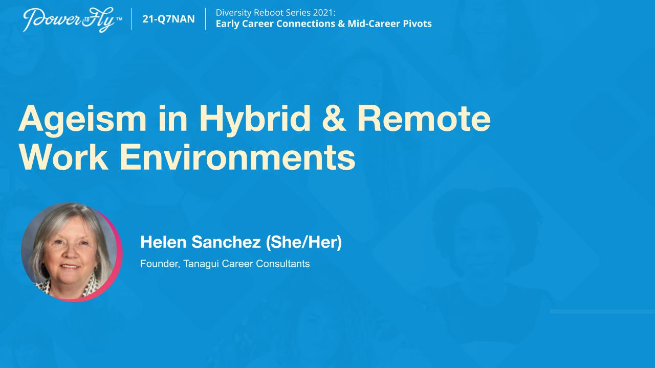 Ageism in Hybrid & Remote Work Environments