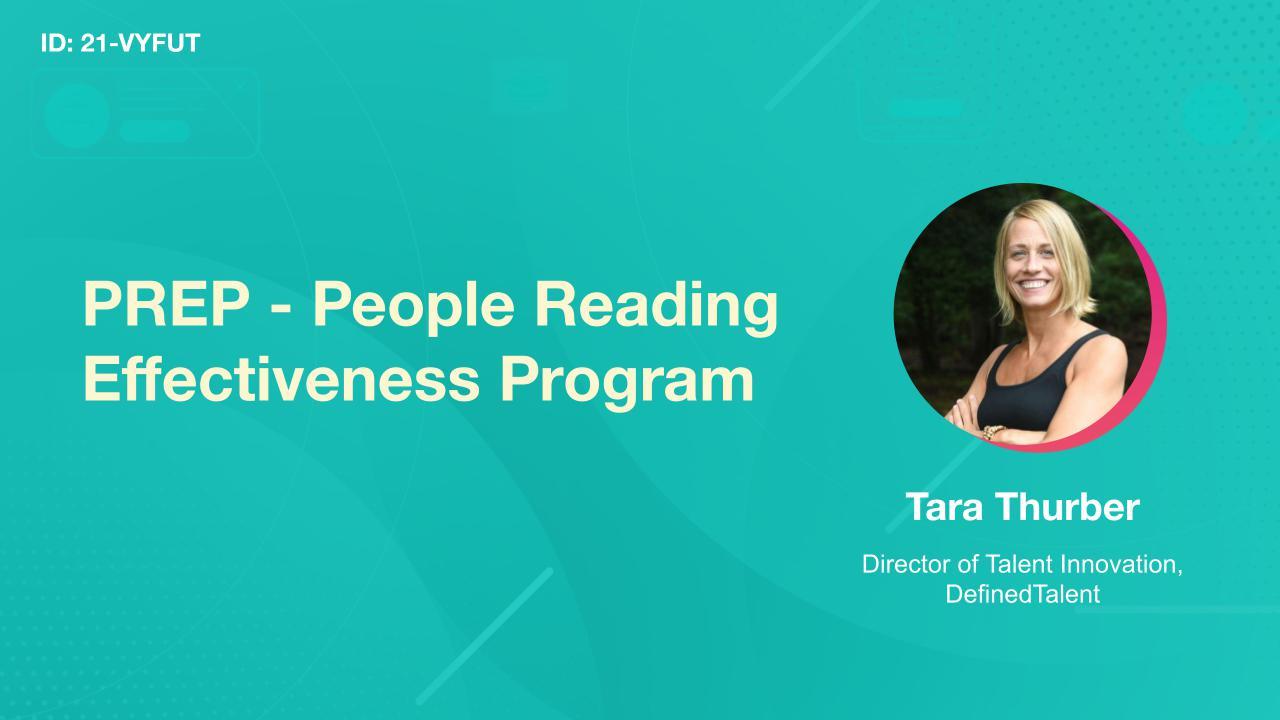 PREP - People Reading Effectiveness Program