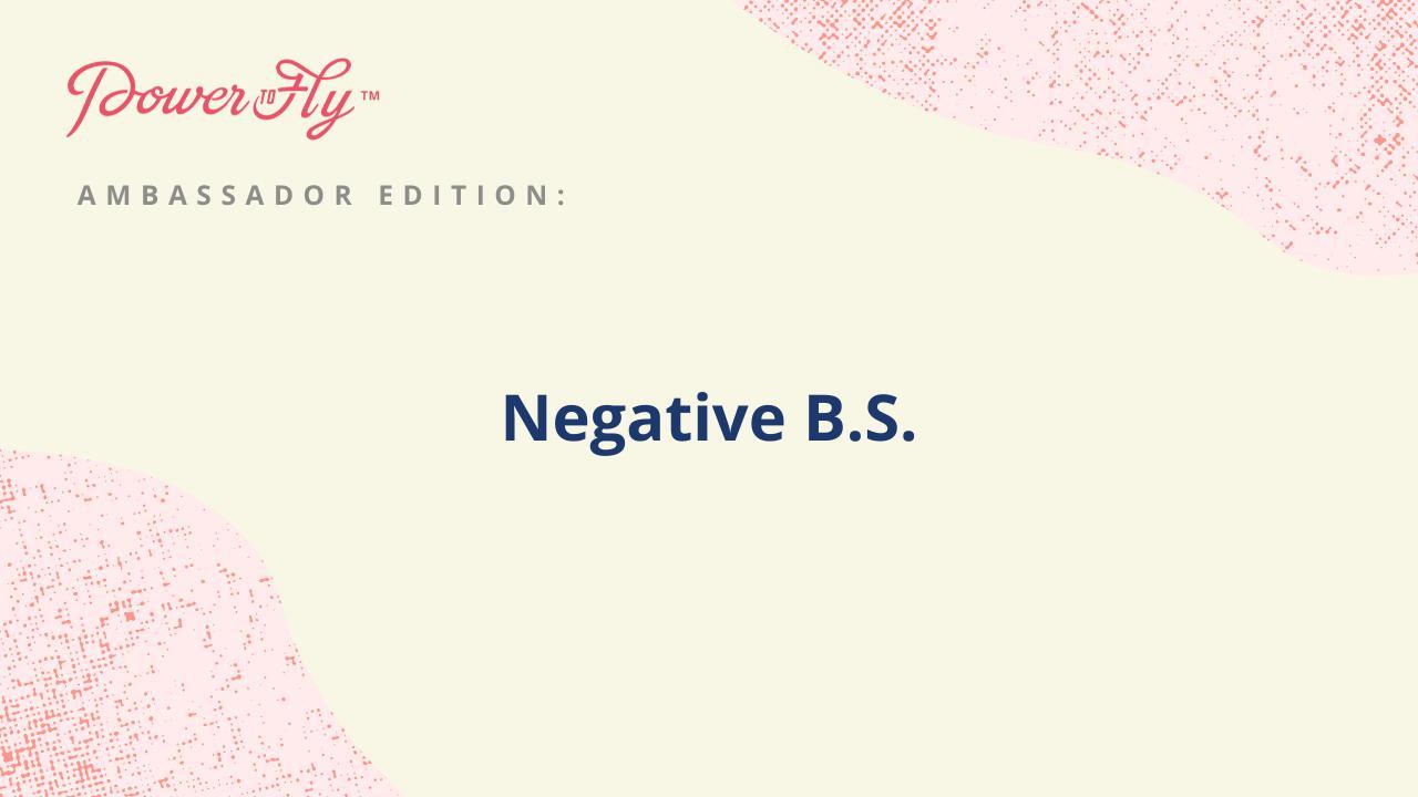 Negative B.S.