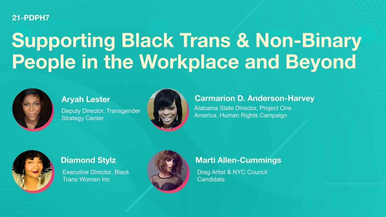 Supporting Black Trans & Non-Binary People in the Workplace and Beyond