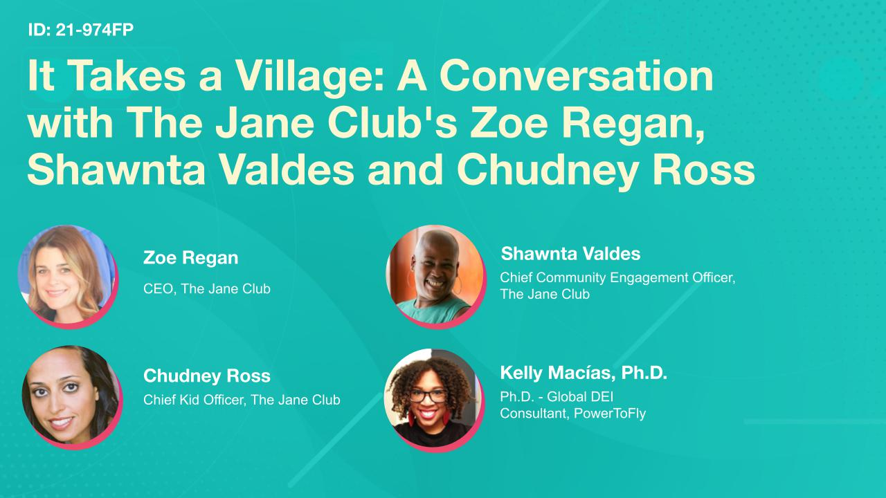 It Takes a Village: A Conversation with The Jane Club's Zoe Regan, Shawnta Valdes and Chudney Ross