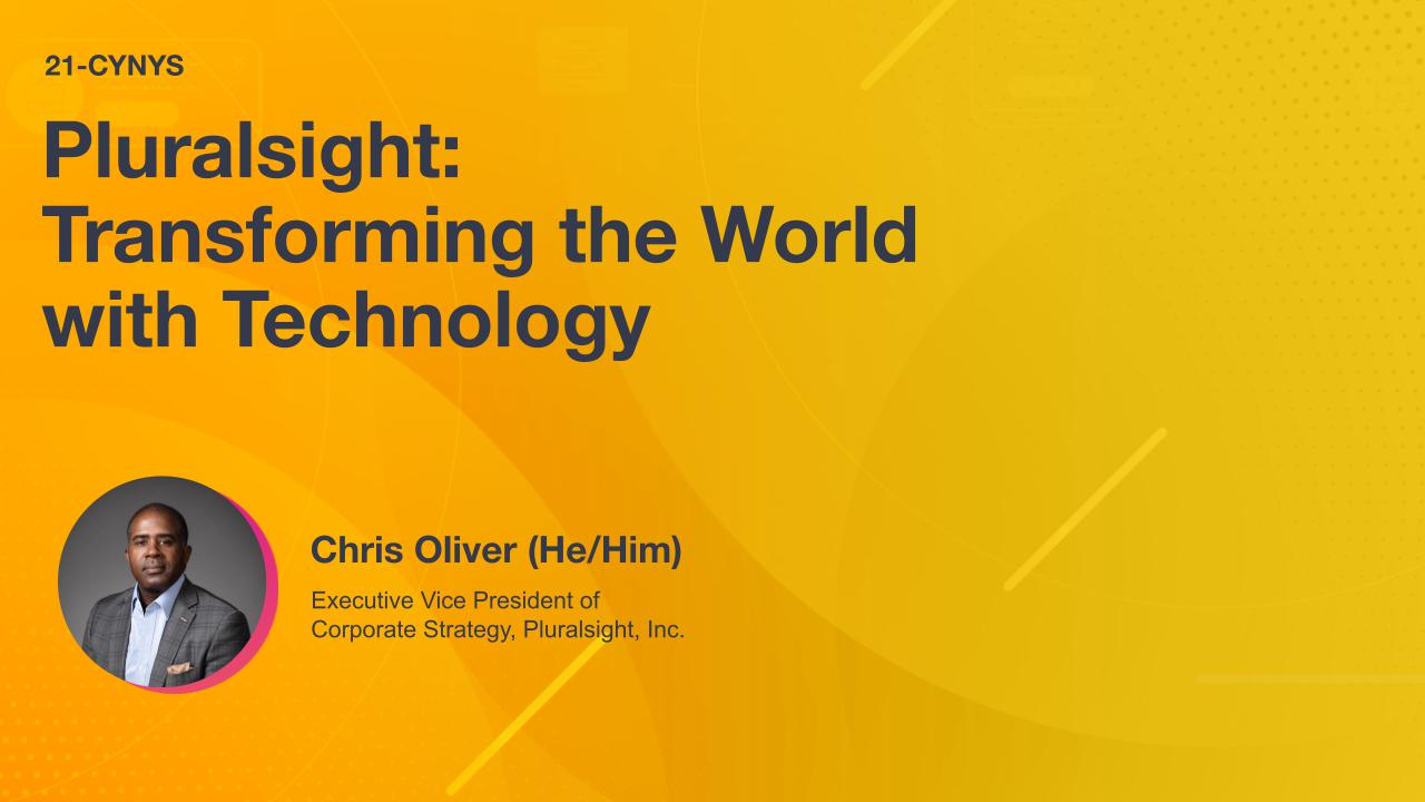 Pluralsight: Transforming the World with Technology