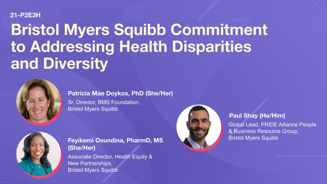 Bristol Myers Squibb Commitment to Addressing Health Disparities and Diversity