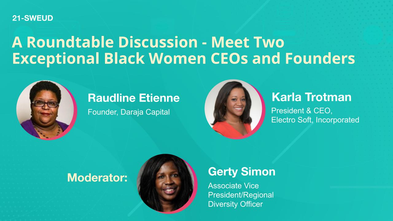 A Roundtable Discussion - Meet Two Exceptional Black Women CEOs and Founders