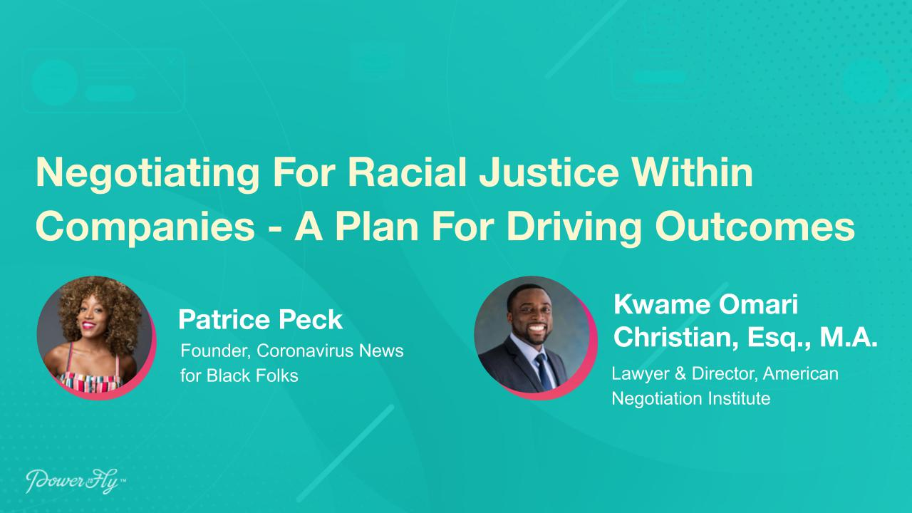 Negotiating For Racial Justice Within Companies - A Plan For Driving Outcomes
