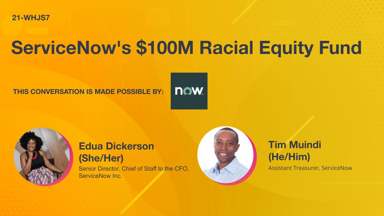 ServiceNow's $100M Racial Equity Fund