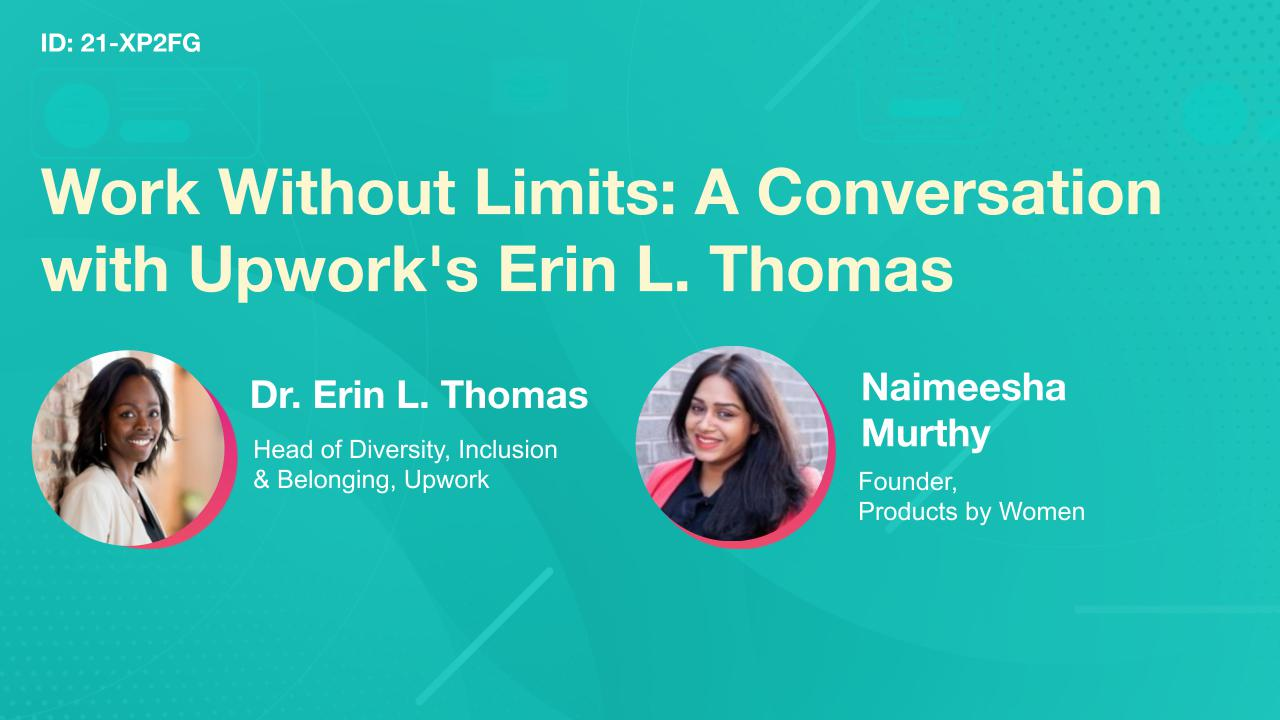 Work Without Limits: A Conversation with Upwork's Erin L. Thomas