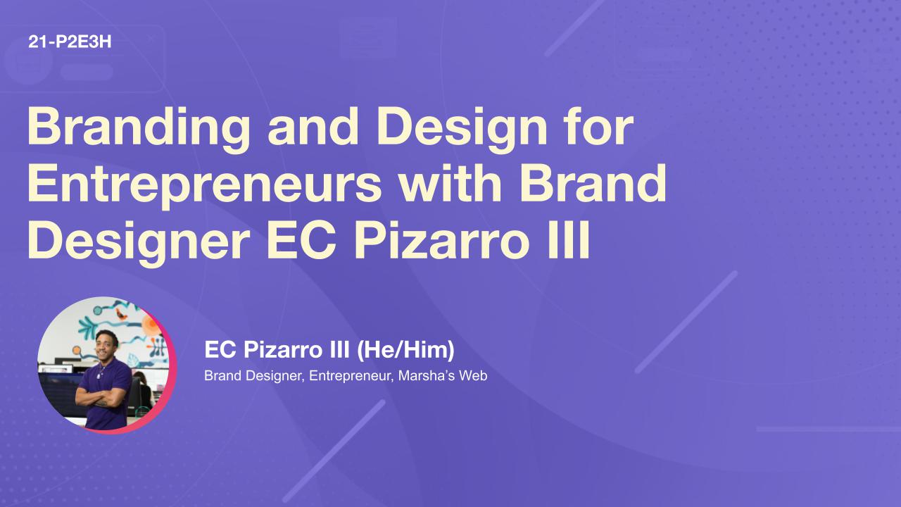 Branding and Design for Entrepreneurs with Brand Designer EC Pizarro III