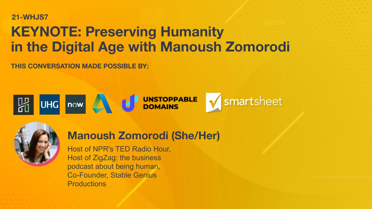 KEYNOTE: Preserving Humanity in the Digital Age with Manoush Zomorodi