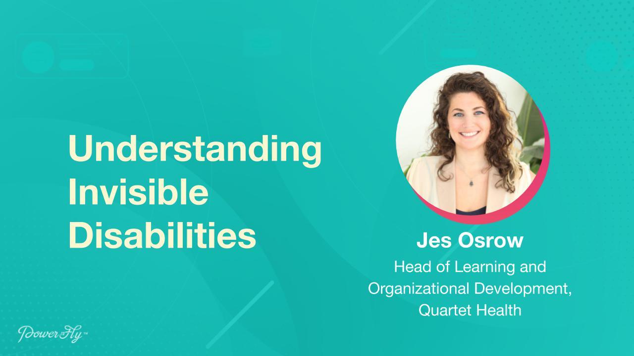 Understanding Invisible Disabilities