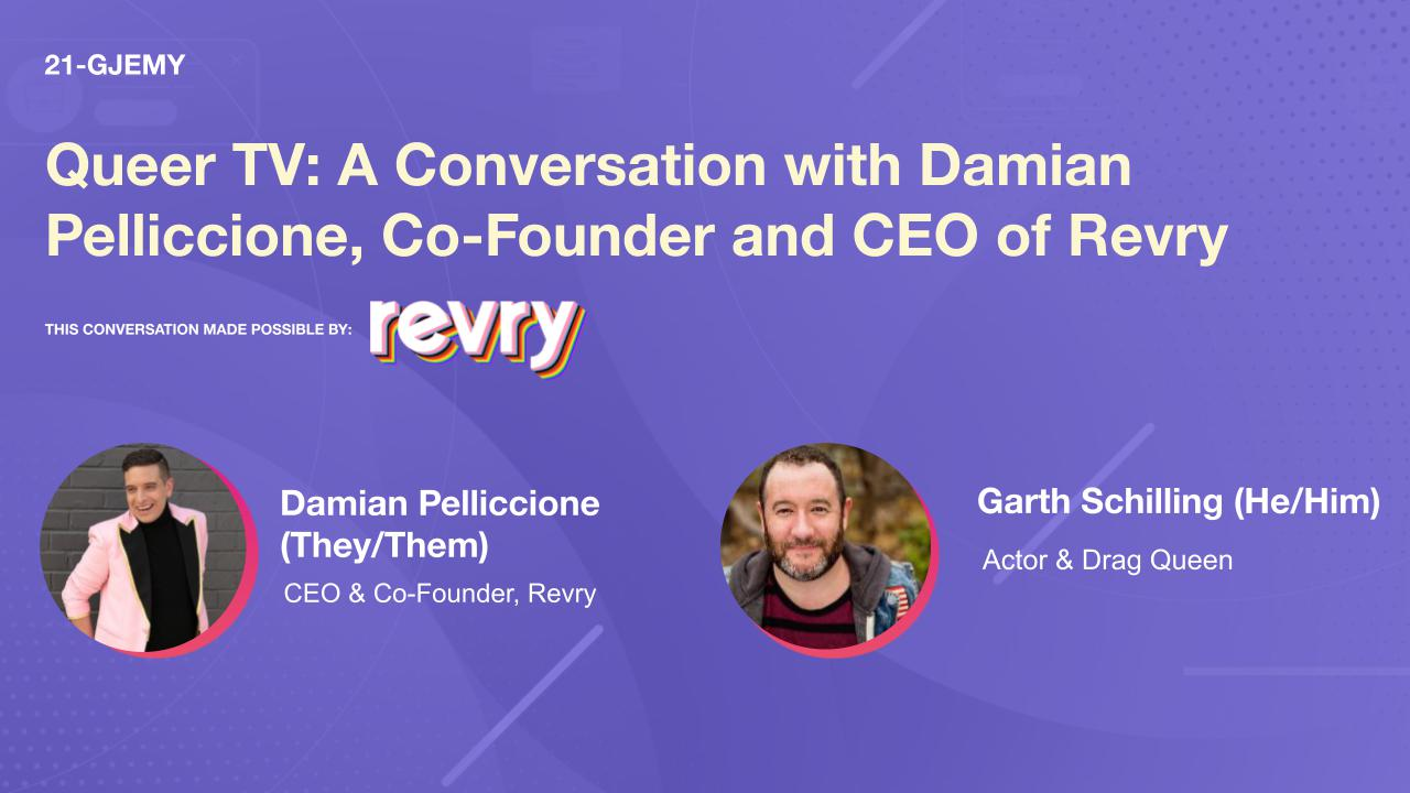 Queer TV: A Conversation with Damian Pelliccione, Co-Founder and CEO of Revry
