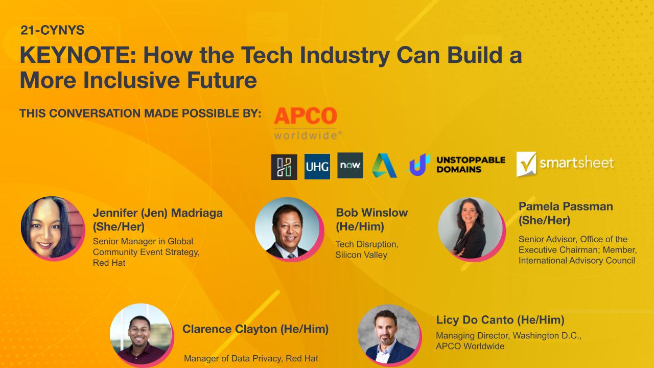KEYNOTE: How the Tech Industry Can Build a More Inclusive Future