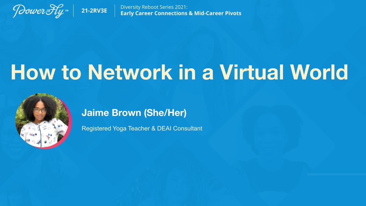 How to Network in a Virtual World