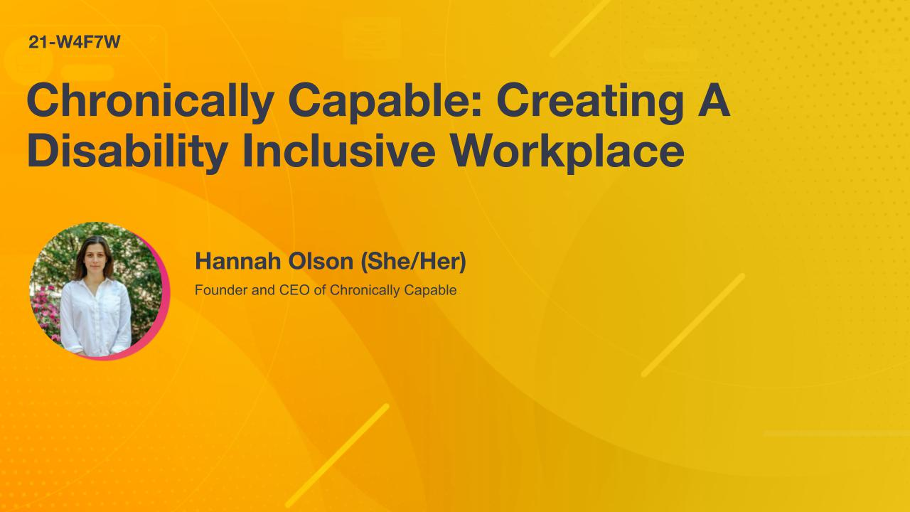 Chronically Capable: Creating A Disability Inclusive Workplace