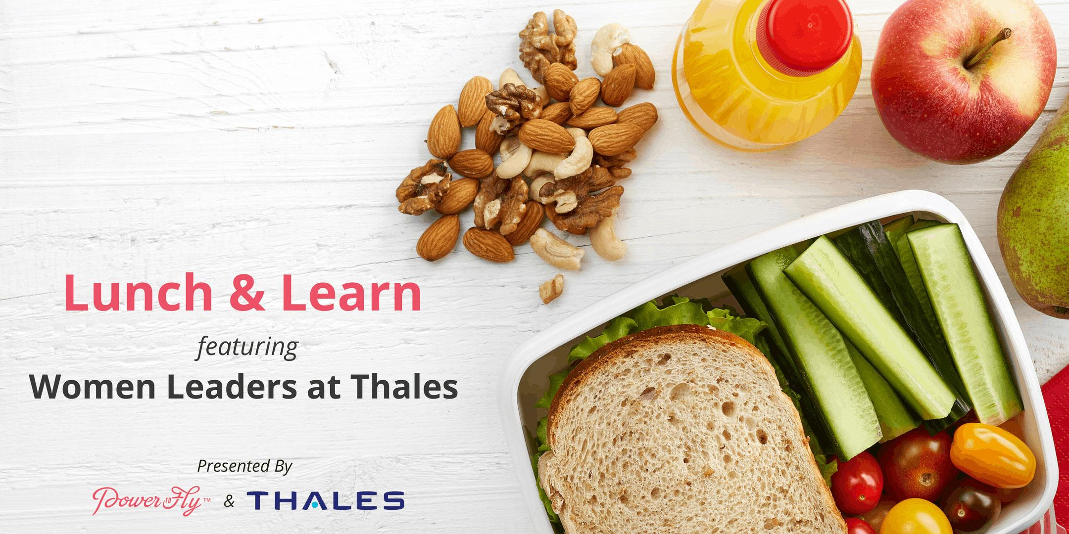 Virtual Lunch & Learn with Women Leaders at Thales