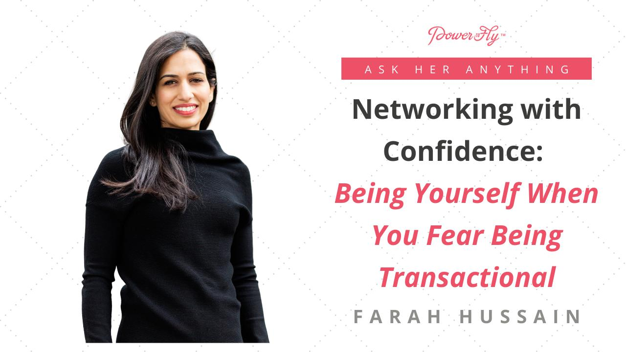Networking with Confidence: Being Yourself When You Fear Being Transactional