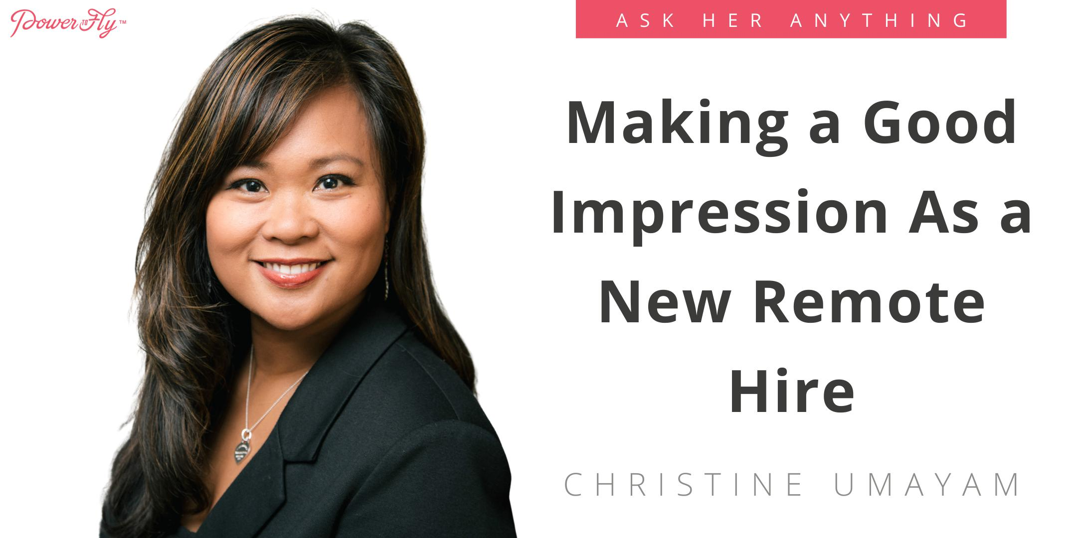 Making a Good Impression As a New Remote Hire